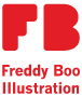 Freddy Boo Illustration logo