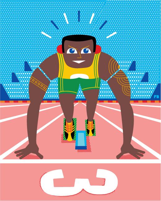 Freddy Boo illustration London 2012 Olympics Athlete
